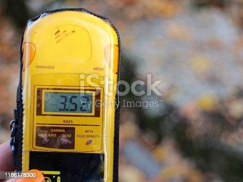 istock Dosimeter in the Chernobyl exclusion zone 1186178300
