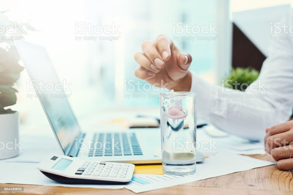 Dosierung bis auf einige Energie für Effizienz im Büro – Foto