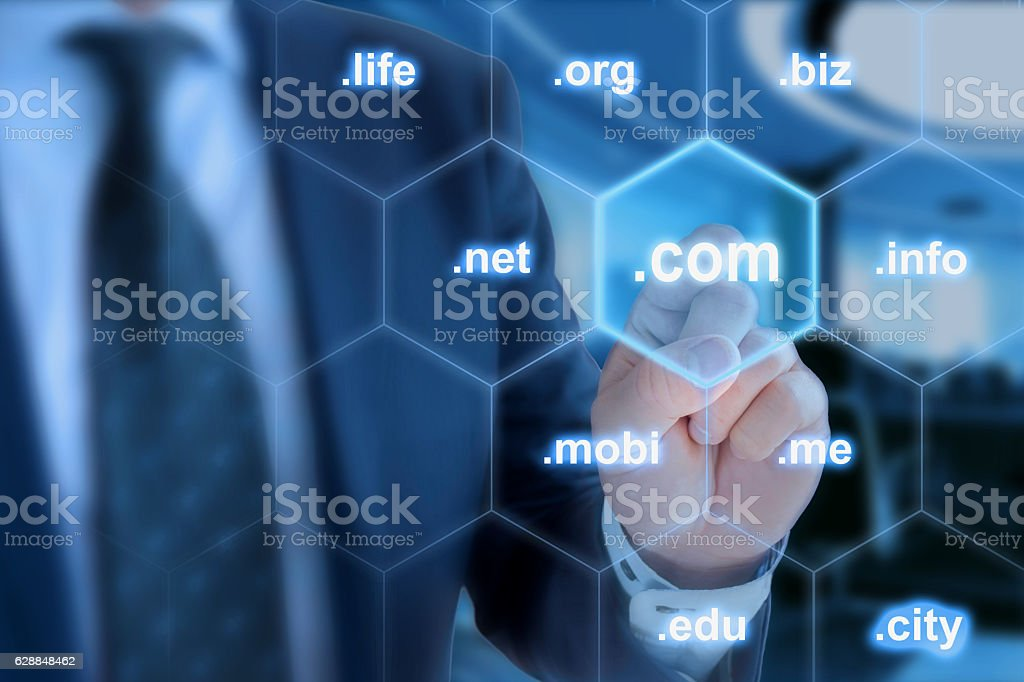 Dot com  the most important domain ending stock photo