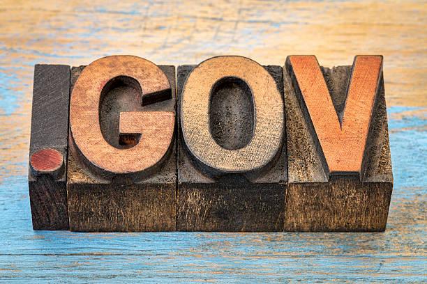 Gepunktete Regierung internet-domain – Foto