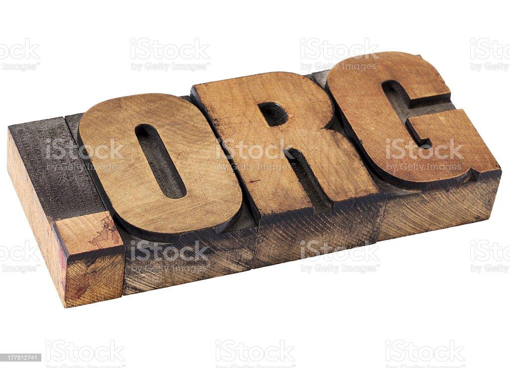 dot org - nonprofit internet domain royalty-free stock photo