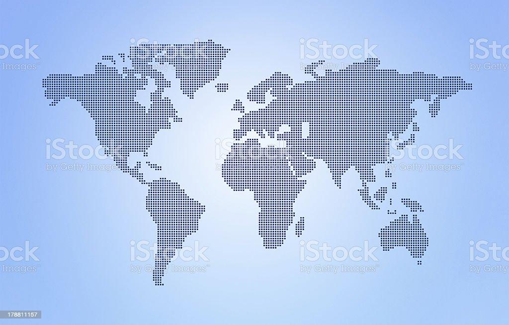 Dot World map stock photo