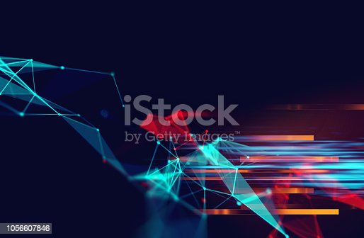 868434080 istock photo dots and lines connection on abstract technology background. 1056607846