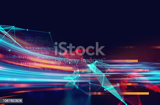 868434080 istock photo dots and lines connection on abstract technology background. 1067652826