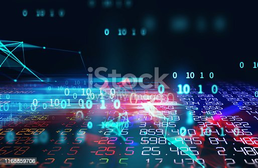868434080 istock photo dots and lines connection on abstract technology background. 1168859706