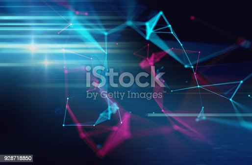 868434080 istock photo dots and lines connection on abstract technology background. 928718850