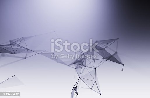 868434080 istock photo dots and lines connection on white abstract technology background. 868433432