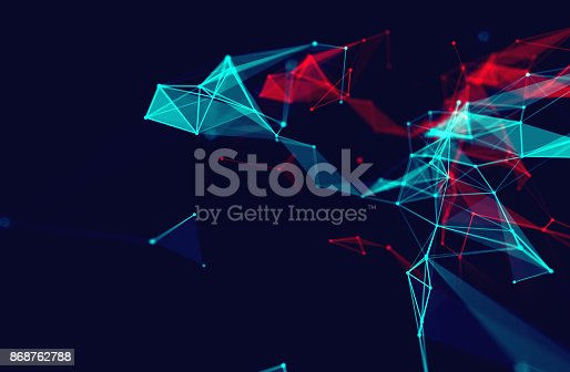 868434080 istock photo dots and lines connection on white abstract technology background. 868762788