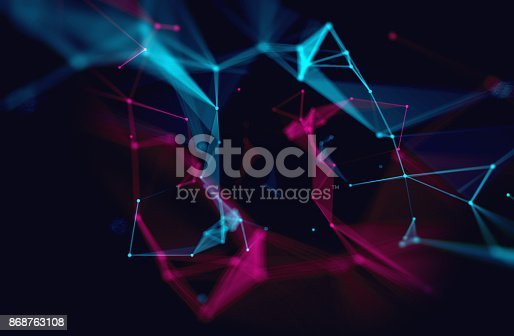 868434080 istock photo dots and lines connection on white abstract technology background. 868763108