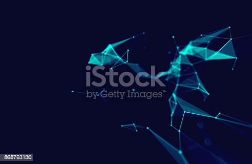 868434080 istock photo dots and lines connection on white abstract technology background. 868763130