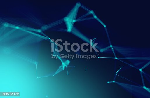868434080 istock photo dots and lines connection on white abstract technology background. 868765172