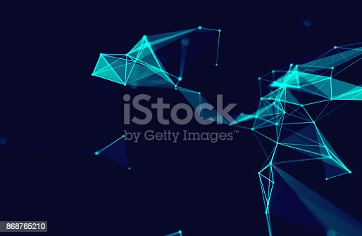 868434080 istock photo dots and lines connection on white abstract technology background. 868765210