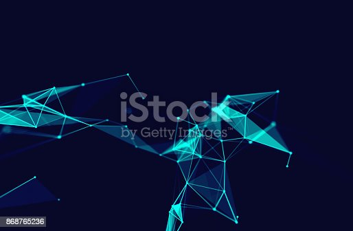 868434080 istock photo dots and lines connection on white abstract technology background. 868765236