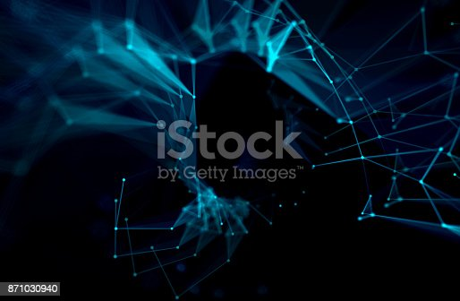 868434080 istock photo dots and lines connection on white abstract technology background. 871030940
