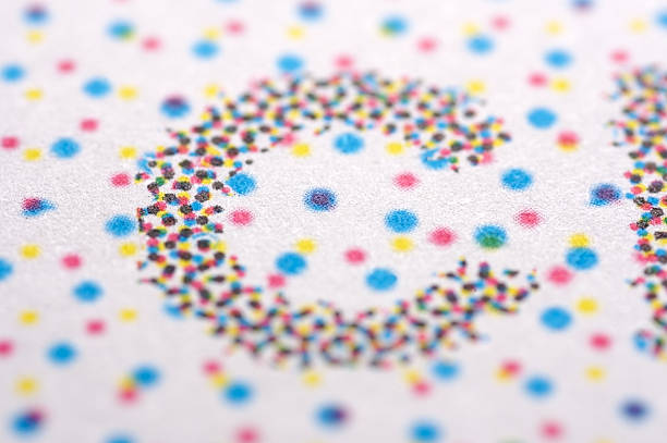 CMYK Dots...  cmyk stock pictures, royalty-free photos & images