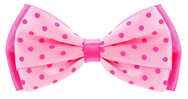 도티드 나비매듭 침목 핑크 with spots - 머리 리본 뉴스 사진 이미지
