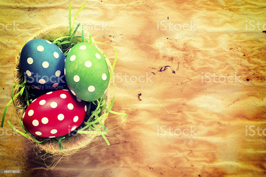 Dotted easter egg stock photo