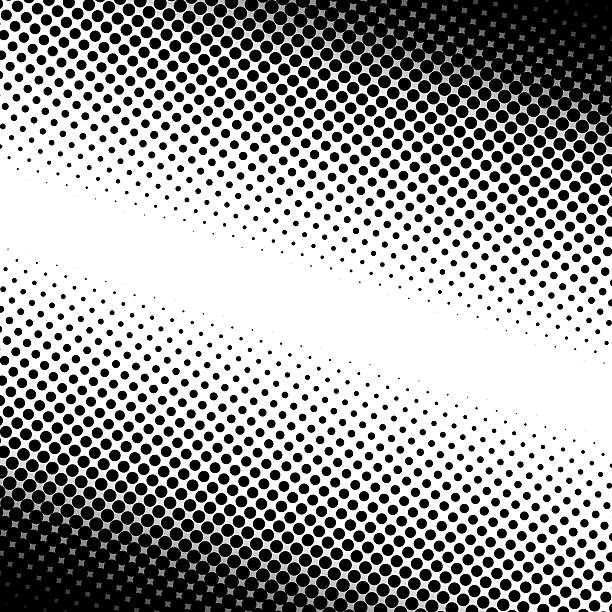 Dotted halftone pattern background stock photo