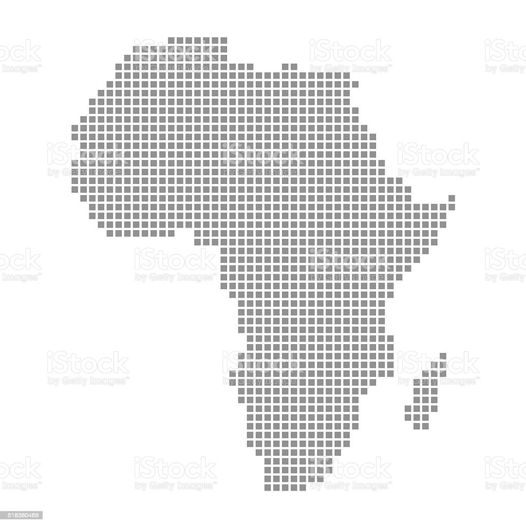 Dotted Map of Africa stock photo