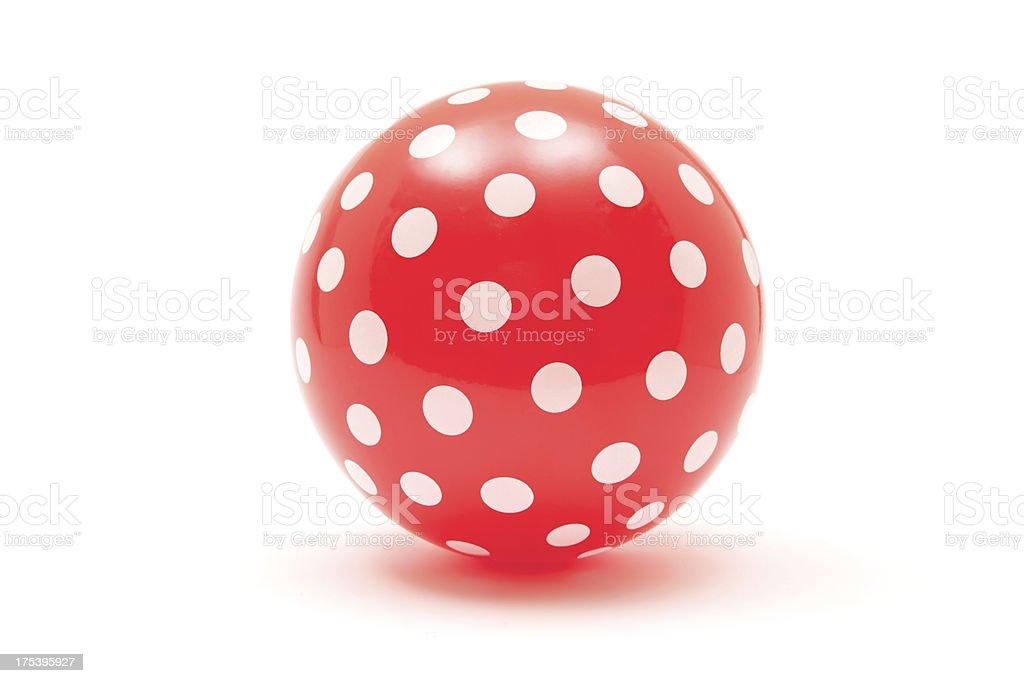 Salpicado rojo de bola - foto de stock