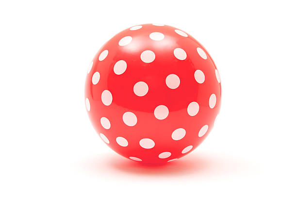dotted red ball - ball stock photos and pictures