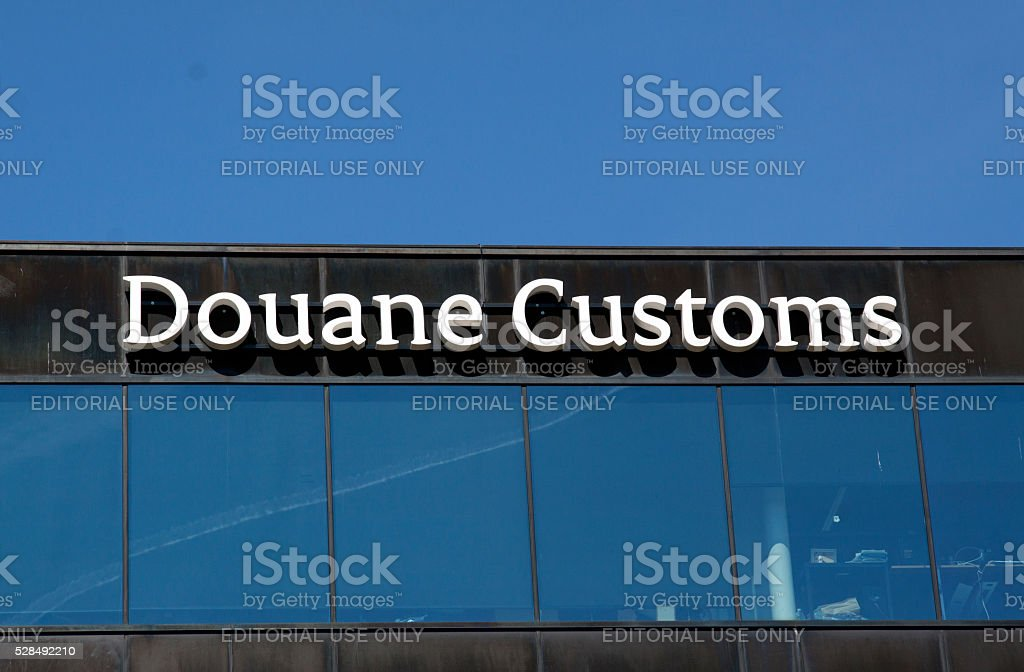 Douane customs letters on a building in amsterdam stock photo