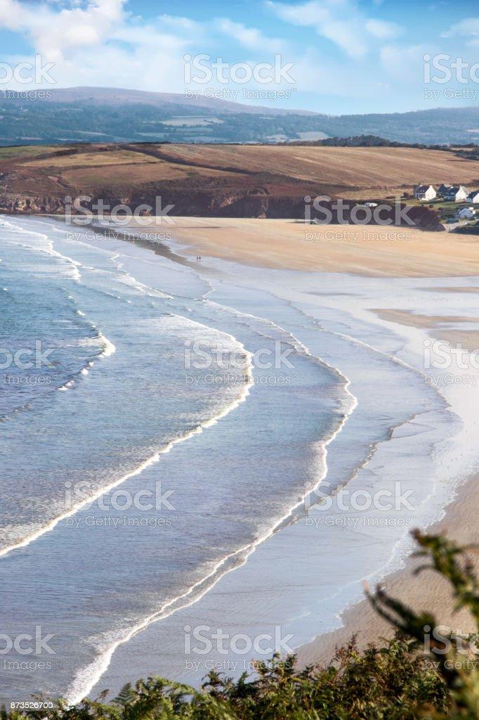 Douarnenez. Plage de Kerlaz. Finistère. Bretagne stock photo