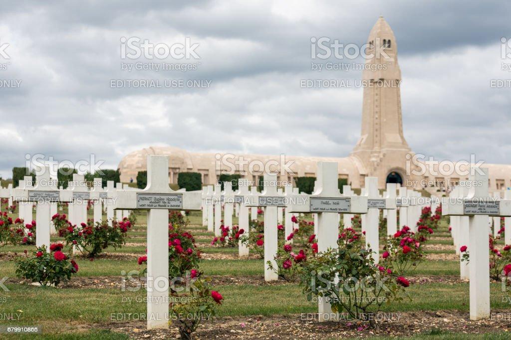 Douaumont ossuary and WW1 cemetery Verdun, France stock photo