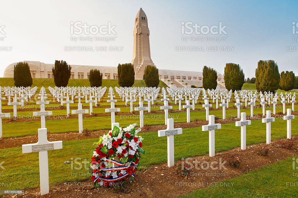 Douaumont Ossuary memorial and cemetery in Verdun stock photo