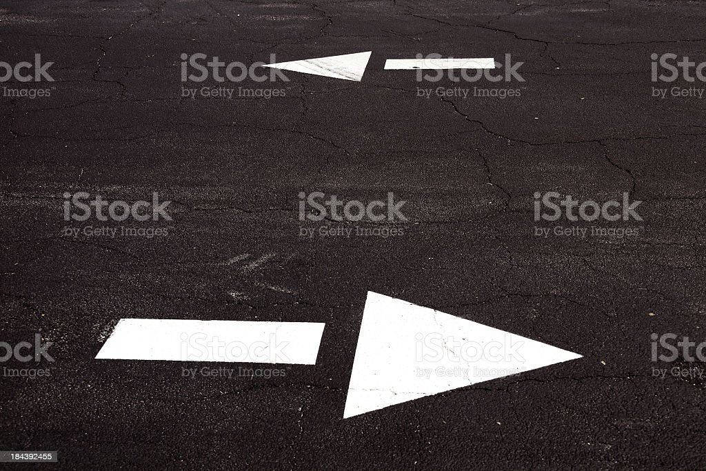 double arrow on road royalty-free stock photo