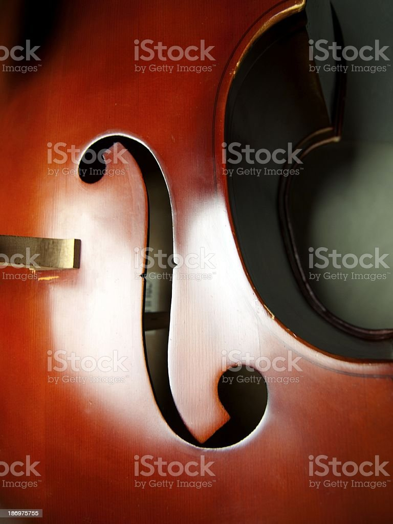 Double Bass close-up 03 stock photo