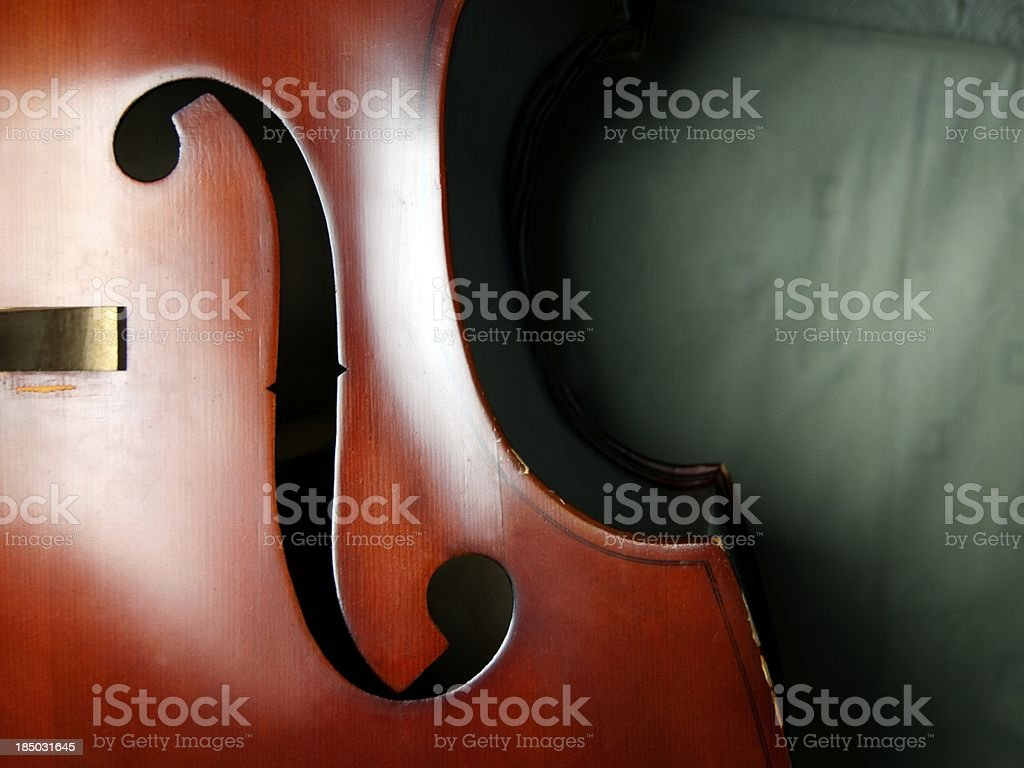 Double Bass close-up 04 stock photo