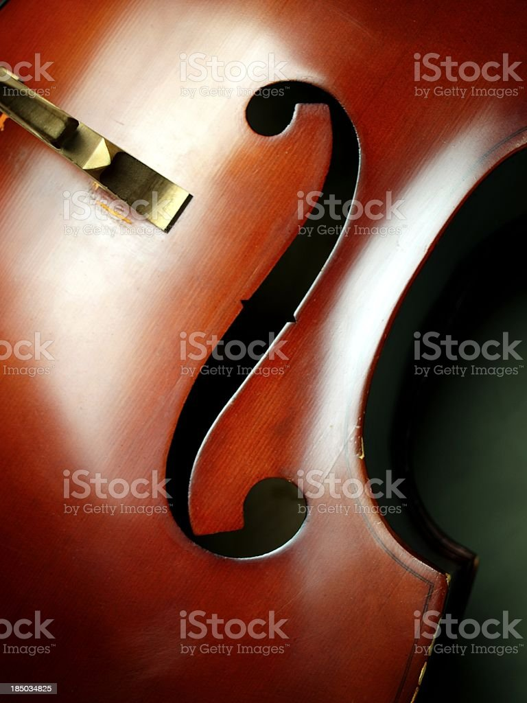 Double Bass close-up 05 stock photo