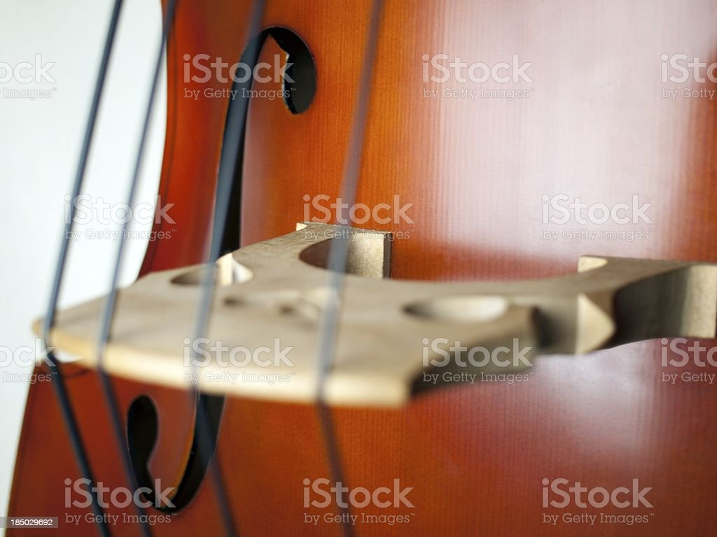 Double Bass close-up 06 stock photo