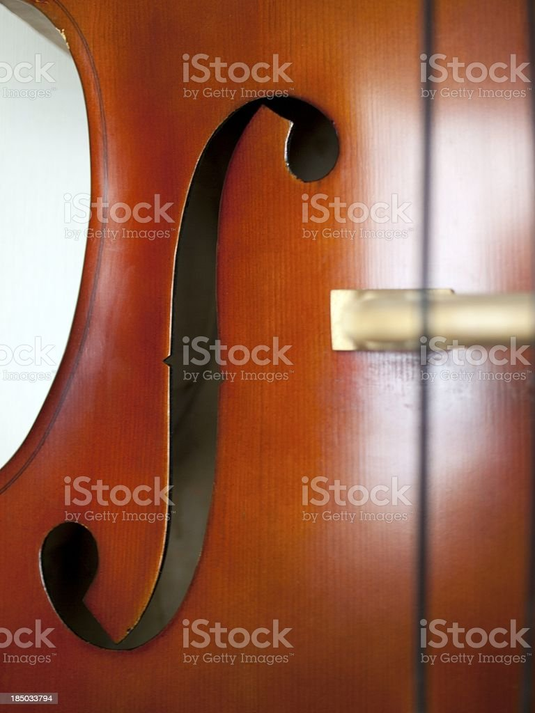 Double Bass close-up 09 stock photo