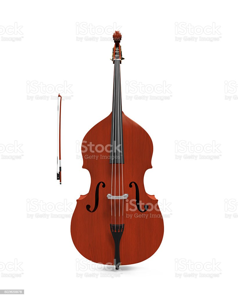 Double Bass Isolated stock photo