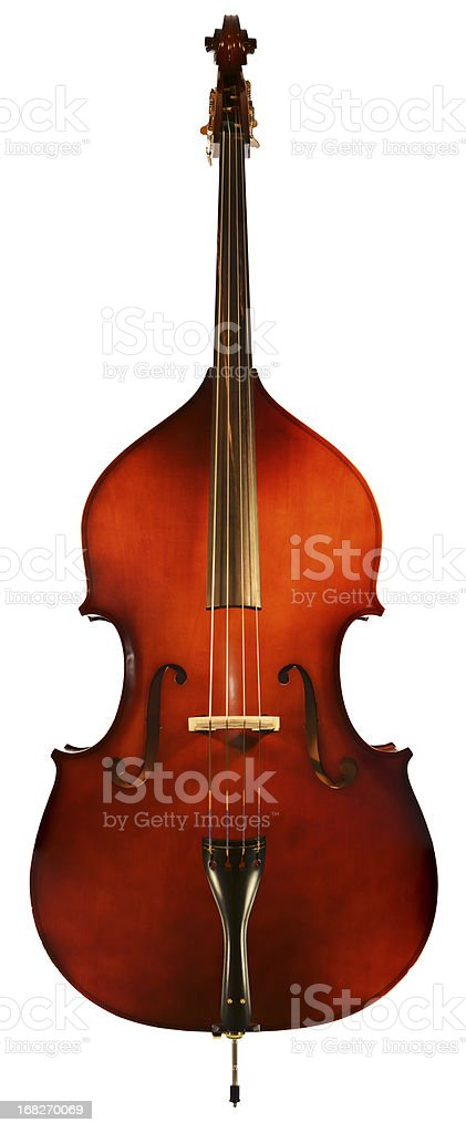 XXXXL Double Bass Isolated with Path royalty-free stock photo