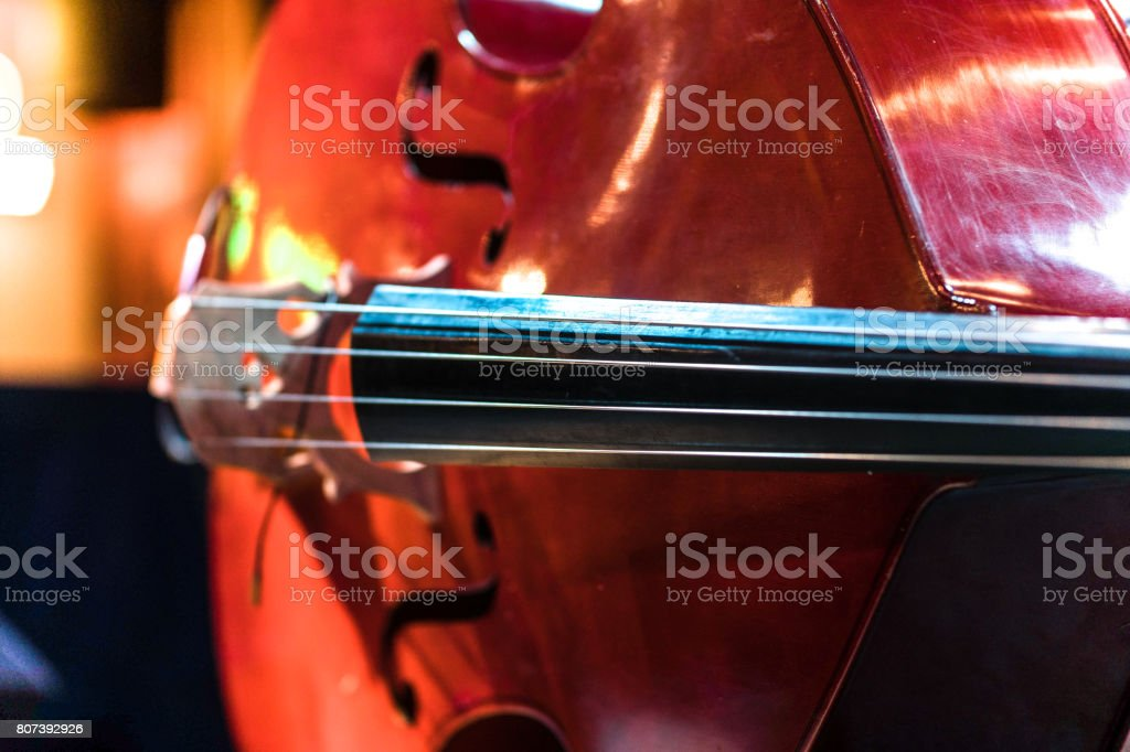 Double bass Kontrabass Bühne stock photo