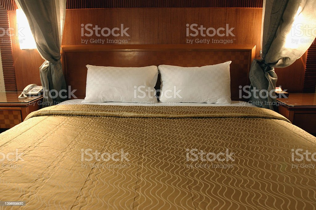 Double bed royalty-free stock photo