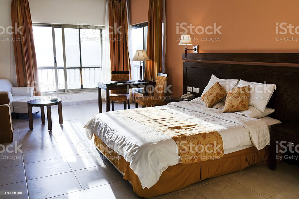 double bed room royalty-free stock photo
