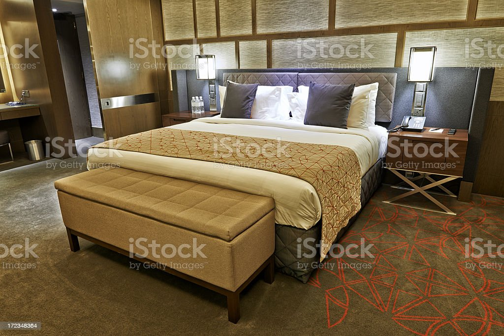 Double Bed Setting royalty-free stock photo