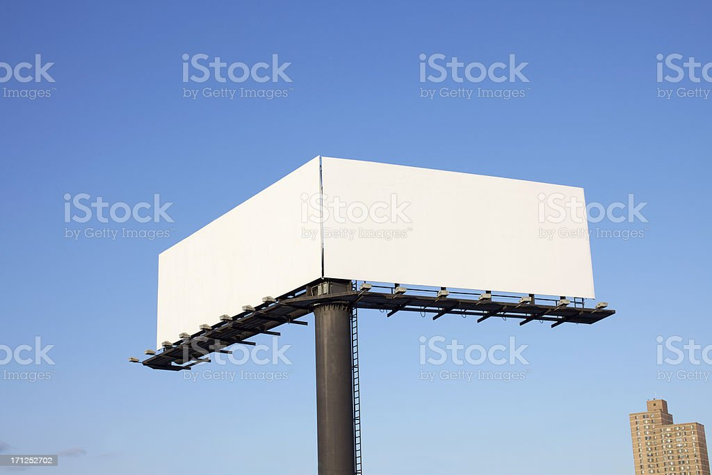 Double Billboard stock photo