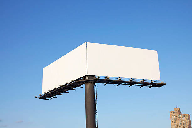 double billboard - symmetry stock photos and pictures