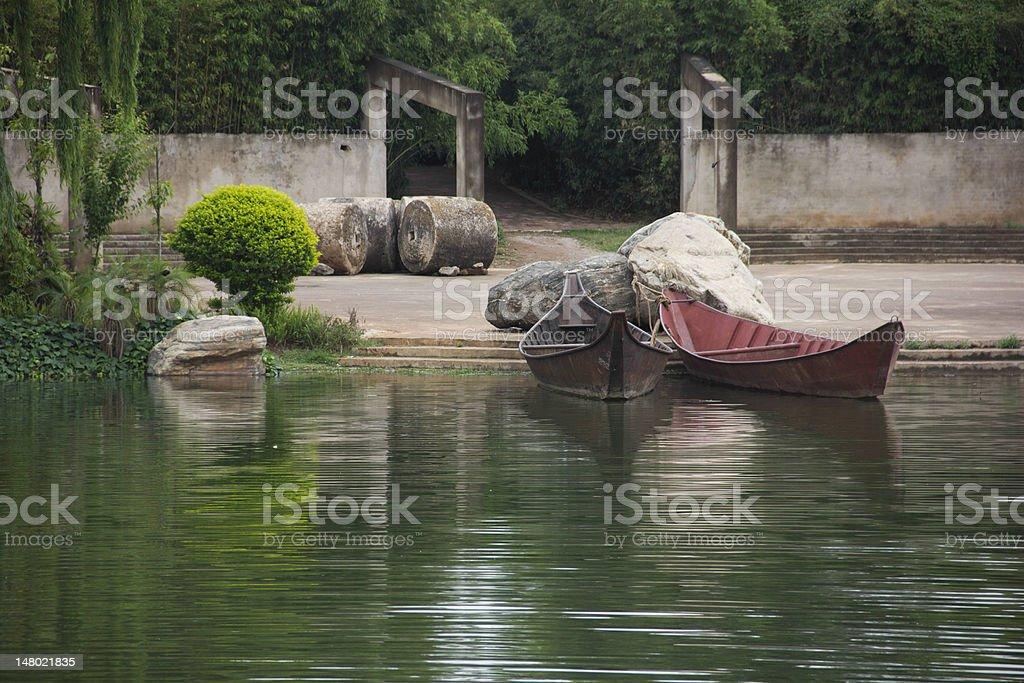 Double Boats stock photo