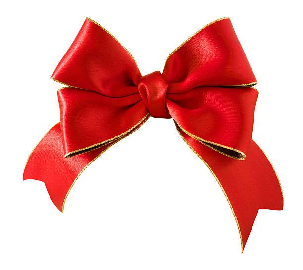 Double bow satin ribbon stock photo
