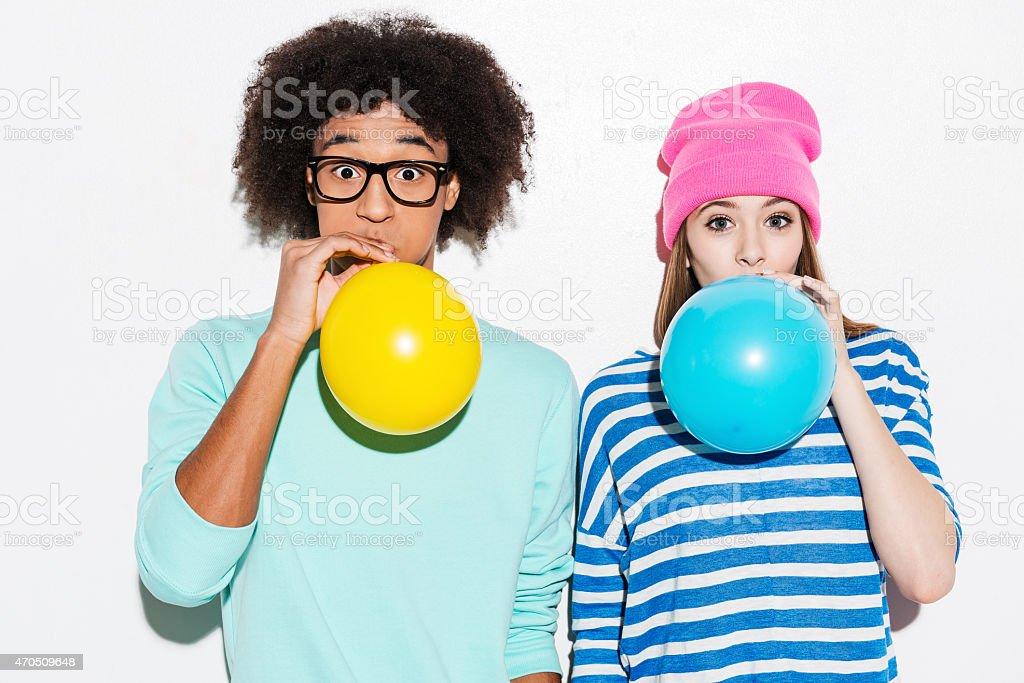 Double bubble love. stock photo