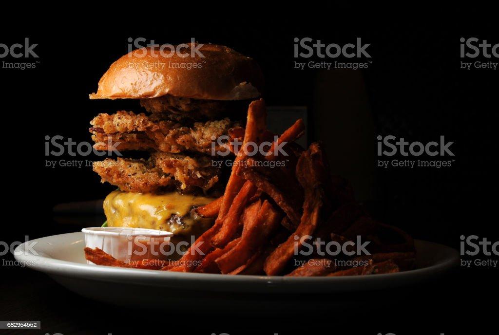 Double Burger Beginning royalty-free stock photo