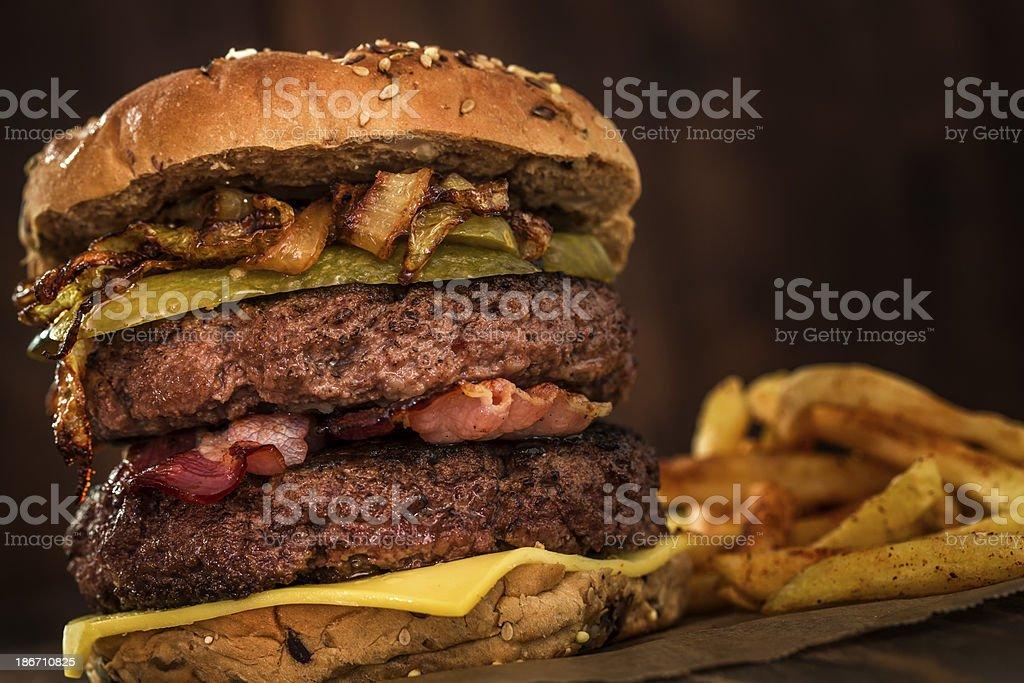 Double Burger royalty-free stock photo