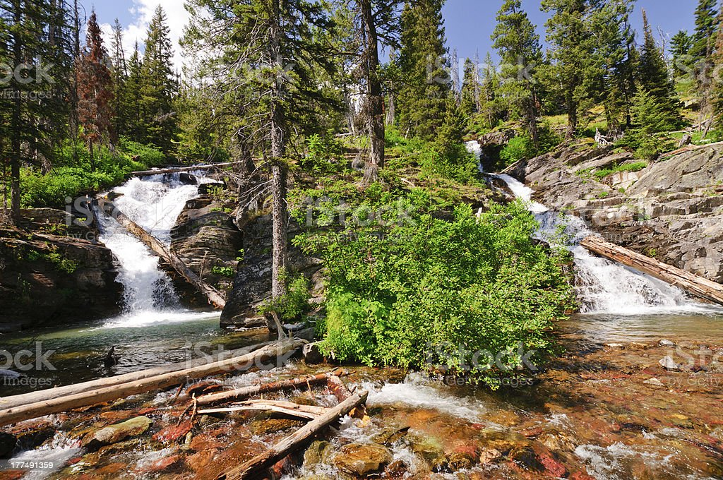 Double Cascades in the Americna Wesy royalty-free stock photo