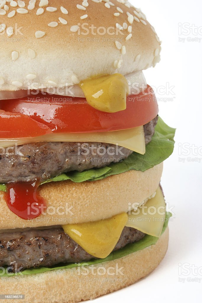 Double cheesburger royalty-free stock photo